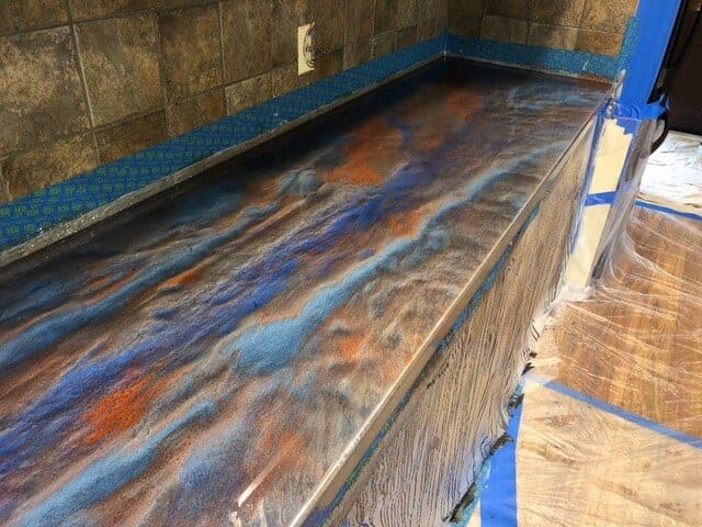 Base Color: Titanium, Highlight: Sky Blue, Copper & Deep Blue, Glaze Top Coat